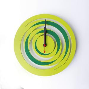 時計 spiral CLOCK 黄緑色 ヤマト工芸 yamatojapan/ウォールクロック インテリア 壁掛け ギフト プレゼント 新築祝い おしゃれ アート ayuwara