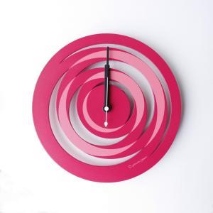 時計 spiral CLOCK ピンク色 ヤマト工芸 yamatojapan/ウォールクロック インテリア 壁掛け ギフト プレゼント 新築祝い おしゃれ アート ayuwara
