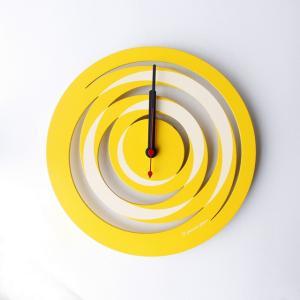 時計 spiral CLOCK 黄色 ヤマト工芸 yamatojapan/ウォールクロック インテリア 壁掛け ギフト プレゼント 新築祝い おしゃれ アート ayuwara