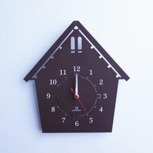 時計 DOUWA house S CLOCK ブラウン ヤマト工芸 yamatojapan/ウォールクロック インテリア 壁掛け ギフト プレゼント 新築祝い おしゃれ アート|ayuwara