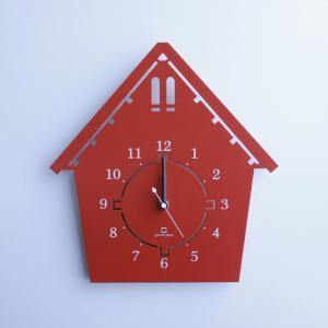 時計 DOUWA house S CLOCK レンガ色 ヤマト工芸 yamatojapan/ウォールクロック インテリア 壁掛け ギフト プレゼント 新築祝い おしゃれ アート|ayuwara
