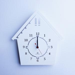 時計 DOUWA house S CLOCK ホワイト ヤマト工芸 yamatojapan/ウォールクロック インテリア 壁掛け ギフト プレゼント 新築祝い おしゃれ アート|ayuwara