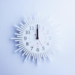 時計 SUN clock ホワイト ヤマト工芸 yamatojapan/ウォールクロック インテリア 壁掛け ギフト プレゼント 新築祝い おしゃれ アート ayuwara