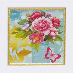 絵画/ゆうパケット ミニゲル アートフレーム アート アトリエ アライアンス「ミント メイソンジャー ブーケ」|ayuwara