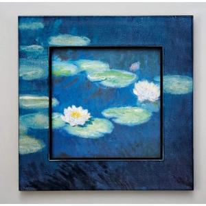 ビッグアート 名画ハイグロスシリーズ モネ 「睡蓮」/絵画 壁掛け 壁飾り インテリア 油絵 花 アートパネル ポスター 絵 額入り リビング 玄関|ayuwara