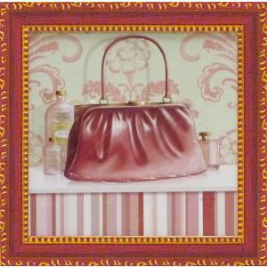 ミニゲル アートフレーム/ゆうパケット キャロライン フィスク 「コーラル ピンク パース2」|ayuwara