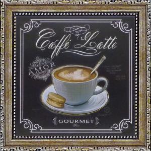 ミニゲル アートフレーム/ゆうパケット チャドバレット「コーヒーハウス カフェラテ」|ayuwara
