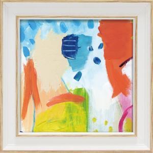 絵画 ミニゲル アートフレーム ファリダ ザマン「チアフル1」 ゆうパケット 絵画 インテリア 壁掛け アート 額縁 ギフト リビング おしゃれ|ayuwara