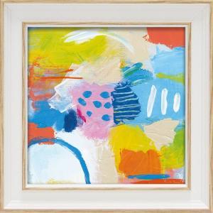 絵画 ミニゲル アートフレーム ファリダ ザマン「チアフル2」 ゆうパケット 絵画 インテリア 壁掛け アート 額縁 ギフト リビング おしゃれ|ayuwara