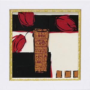 絵画 ミニゲル アートフレーム ジャン ワイス「サマー 1987」ゆうパケット /絵画 壁掛け 壁飾り インテリア|ayuwara