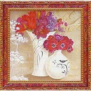 ゆうパケット ミニ ゲル アートフレーム キャサリン ホワイト 「花盛り1」|ayuwara