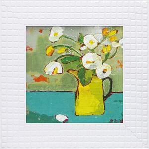 絵画/フラワー コレクションアート ララ ボウエン 「黄色いブリキの水差し」|ayuwara