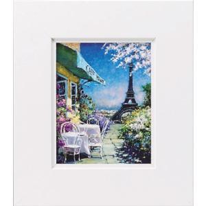 絵画/ゆうパケット マルコ マヴロヴィッチ パリのカフェ/絵画 壁掛け 壁飾り インテリア 油絵 花 アートパネル ポスター 絵 額入り リビング 玄関|ayuwara