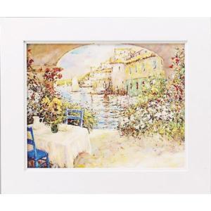絵画/マルコ マヴロヴィッチ 幸せな朝/絵画 壁掛け 壁飾り インテリア 油絵 花 アートパネル ポスター 絵 額入り リビング 玄関|ayuwara