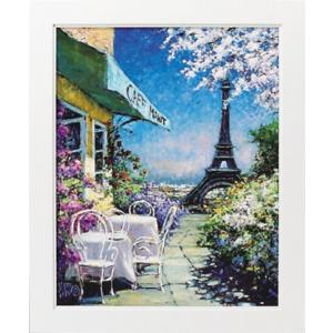 絵画/マルコ マヴロヴィッチ パリのカフェ/絵画 壁掛け 壁飾り インテリア 油絵 花 アートパネル ポスター 絵 額入り リビング 玄関 ayuwara