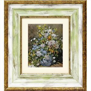 絵画 ルノワール 大きな花びん/絵画 壁掛け 壁飾り インテリア 油絵 花 アートパネル ポスター 絵 額入り リビング 玄関|ayuwara