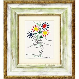 絵画 ピカソ ブーケ/絵画 壁掛け 壁飾り インテリア 油絵 花 アートパネル ポスター 絵 額入り リビング 玄関|ayuwara