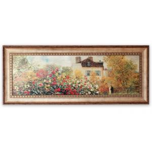 絵画/LLサイズ モネ 「庭園のアーチスト」/絵画 壁掛け 壁飾り インテリア 油絵 花 アートパネル ポスター 絵 額入り リビング 玄関|ayuwara