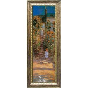 絵画 LLサイズ モネ 「ヴェトゥイユの画家の庭」 絵画 壁掛け 壁飾り インテリア 油絵 花 アー...