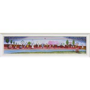 絵画/なかの まりの 人生のレッドカーペット/絵画 壁掛け 壁飾り インテリア 油絵 花 アートパネル ポスター 絵 額入り リビング 玄関|ayuwara