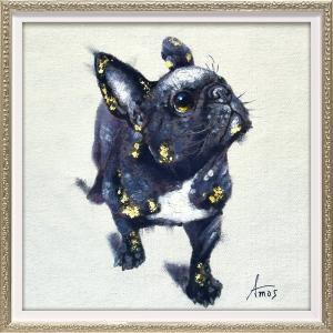 【絵画 油絵】オイル ペイント アート「ブラック ブル(Sサイズ)」|ayuwara