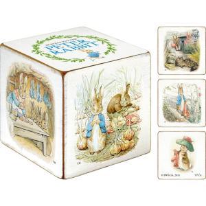 置物・雑貨 ピーターラビット 木製キューブ アート『ベンジャミンバニーのおはなし』(Lサイズ)インテリア|ayuwara