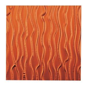 壁掛け/プラデック ウォール アート ウェーブ (メタルオレンジ)/絵画 壁掛け 壁飾り インテリア 油絵 花 アートパネル ポスター 絵 額入り リビング 玄関|ayuwara