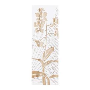 ウッド スカルプチャー アート オーキッド (ホワイト)/絵画 壁掛け 壁飾り インテリア 油絵 花 アートパネル ポスター 絵 額入り リビング 玄関|ayuwara