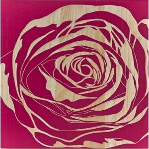 ウッド スカルプチャー アート Sサイズ/ローズ/レッド/絵画 壁掛け 壁飾り インテリア 油絵 花 アートパネル ポスター 絵 額入り リビング 玄関|ayuwara