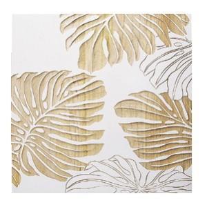 ウッド スカルプチャー アート モンステラB/ホワイト/絵画 壁掛け 壁飾り インテリア 油絵 花 アートパネル ポスター 絵 額入り リビング 玄関|ayuwara