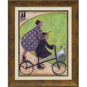 絵画/サム トフト 二人乗り/絵画 壁掛け 壁飾り インテリア 油絵 花 アートパネル ポスター 絵 額入り リビング 玄関 ayuwara