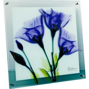 レントゲンアート X RAY ガラス アート「ジェンティアン(Lサイズ)」/絵画 壁掛け 壁飾り インテリア|ayuwara