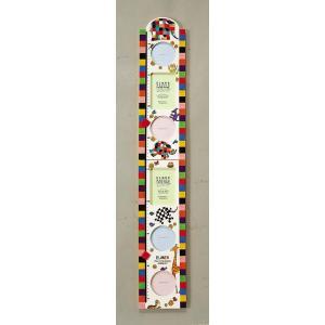 ぞうのエルマー 身長計付フォトフレーム/絵画 壁掛け 壁飾り インテリア 油絵 花 アートパネル ポスター 絵 額入り リビング 玄関 ayuwara