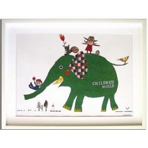 アートフレーム/Children WorldColobockle(コロボックル) child1110/絵画 壁掛け 壁飾り インテリア 油絵 花 アートパネル ポスター 絵 額入り リビング 玄関|ayuwara