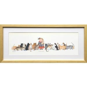 絵画/ダイアン パターソン キティ コーナー/インテリア 壁掛け 壁飾り 額入り アート リビング 玄関 トイレ プレゼント ギフト おしゃれ 飾る ポスター 猫