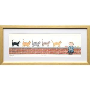 絵画/ダイアン パターソン キャット ウォーク/インテリア 壁掛け 壁飾り 額入り アート リビング...