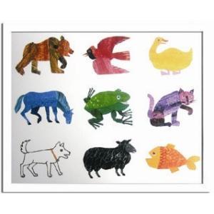 エリック・カール/Eric Carle Animals(動物)/絵画 壁掛け 壁飾り インテリア 油絵 花 アートパネル ポスター 絵 額入り リビング 玄関|ayuwara