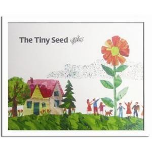 エリック・カール/Eric Carle ちいさいタネ(The Tiny Seed)/絵画 壁掛け 壁飾り インテリア 油絵 花 アートパネル ポスター 絵 額入り リビング 玄関|ayuwara