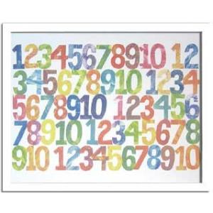 アートフレーム/Eric Carle Numbers(エリック カール ナンバーズ)/絵画 壁掛け 壁飾り インテリア 油絵 花 アートパネル ポスター 絵 額入り リビング 玄関|ayuwara
