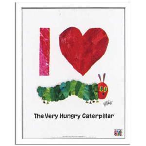 エリック カール/Eric Carle Love(ラブ(はらぺこあおむし))/絵画 壁掛け 壁飾り インテリア 油絵 花 アートパネル ポスター 絵 額入り リビング 玄関|ayuwara