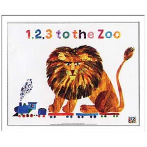 エリック カール/Eric Carle 1,2,3 to the Zoo(1、2、3どうぶつえんへ)/絵画 壁掛け 壁飾り インテリア 油絵 花 アートパネル ポスター 絵 額入り リビング 玄関|ayuwara