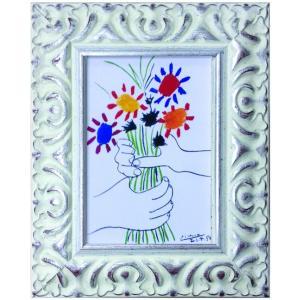 名画 ピカソ ブーケ/絵画 壁掛け 壁飾り インテリア 油絵 花 アートパネル ポスター 絵|ayuwara