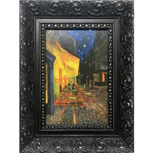 名画 ゴッホ 夜のカフェテラス/絵画 壁掛け 壁飾り インテリア 油絵 花 アートパネル ポスター 絵 ayuwara