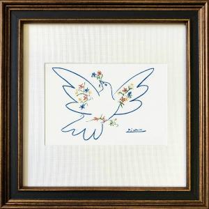 名画アートフレーム ゆうパケット ピカソ 平和のはと/絵画 壁掛け 壁飾り インテリア 油絵 花 アートパネル ポスター 絵|ayuwara