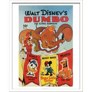 Disneyポスター/ビンテージ ディズニー シリーズ Dumbo ダンボ/絵画 壁掛け 壁飾り インテリア 油絵 花 アートパネル ポスター 絵 額入り リビング 玄関|ayuwara