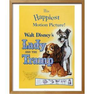 Disneyポスター/ビンテージ ディズニー シリーズ Lady and the Tramp わんわん物語|ayuwara