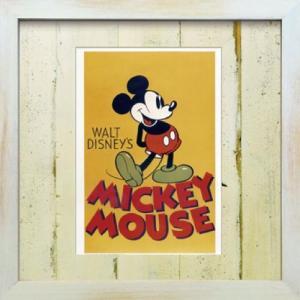 アートフレーム ビンテージ ディズニー ミッキーマウス1【ゆうパケット】/絵画 壁掛け 壁飾り インテリア ayuwara