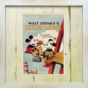 アートフレーム ビンテージ ディズニー ミッキーマウス2【ゆうパケット】/絵画 壁掛け 壁飾り インテリア ayuwara