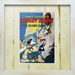Disneyフレーム ゆうパケット ビンテージ ディズニー シリーズ Mickey Mouse 3 ミッキーマウス3/絵画 壁掛け 壁飾り インテリア|ayuwara