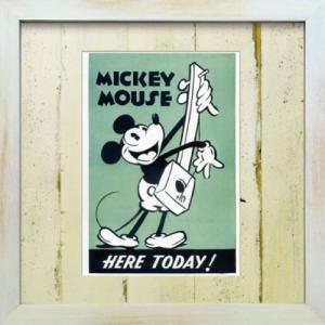 Disneyフレーム ゆうパケット ビンテージ ディズニー シリーズ Mickey Mouse 6 ミッキーマウス6/絵画 壁掛け 壁飾り インテリア|ayuwara